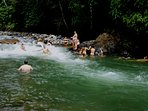 The river is a great source of fun- literally submerge yourself in nature!