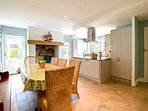 Large kitchen diner with Free Sat T.V & under floor heating