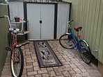 Bikes for riding around the neighborhood or to the grocery store which is very close by