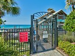 Beachside Pavilion and Gated Entrance to Beach