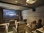 Inside the movie/presentation room.