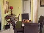 Open plan dining / study area.