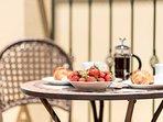 Enjoy breakfast in the sun