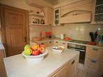 Spacious kitchen with oven, fridge, hob, washing machine & dishwasher at The Stone House, 165 Prcanj