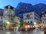 Old Town Kotor. There is no traffic to worry about.