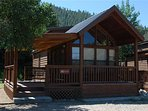 """Cozy """"Modular"""" Style 1 BR with Sleeping Loft Cabin at Three Rivers Resort in Almont (#40)"""