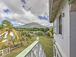 Mountain views grace this charming Nevis Island home.