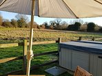 Outside dining for 4-6 with views across the New Forest