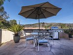 Enjoy a meal on your back patio with big open sky all around you.
