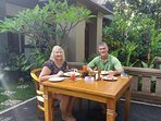 one of our guest enjoy their morning breakfast