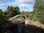 Carrbridge - the old bridge in the centre of the village which from which the village takes its name