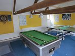 Games room with Pool and Table Tennis Tables