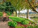Private outdoor patio w/ BBQ overlooking river