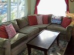 Relax on these couches and enjoy while watching a classic movie on the 42' flatscreen