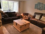 Large and spacious main lounge with comfy soga bed, dvds, karaoke and books to keep you entertained!