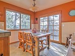 Enjoy home-cooked meals around the quaint table in the eat-in kitchen.
