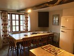 large kitchen table to seat 8-10