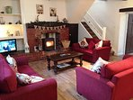 Brook House 2  lounge with woodburner stove