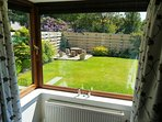 Enjoy the garden from the lounge window