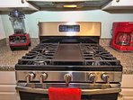 Gas grill, BBQ center plate for steaks, pancakes, fish, balcon!