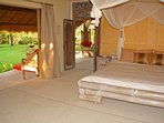 Sumba, first floor is made of 2 large Bedrooms, that have a panoramic view of the tropical garden.
