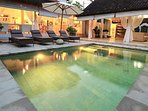 Poolside Lounging by 2 Pavilions and a 6x3mtr pool in your own secret garden paradise