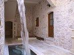 Heated spa pool on the ground floor