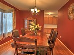 Have a family meal in the formal dining room.