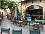 Elia Cafe bar on Market Place, Panormo - just a few steps from Villa Kamares