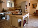 The lovely kitchen at Villa La Cascade - fully equipped for the keenest cook!