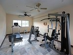 You have a good gym just by the pool a few meters from the beach-house. Nice to spend some time now