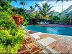 Enjoy downtime by the swimming pool, located within Kapaa Sands Resort.