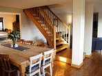 Beautiful oak staircase (now fitted with stairgate)