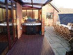 Covered decking with large gas BBQ