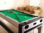 The games room features pool, air-hockey and table tennis.