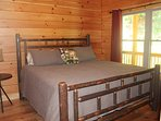 Spare Bedroom with King Hickory Bed & TV