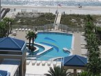 PRIVATE WALKWAY ESCORTS YOU to the SUNDECK, POOL, AND GULF of MEXICO....