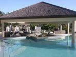 Swim up bar at the main pool