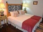 Second bedroom has 2 large single beds which can be joined together or separate.