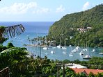 Spend the day at Marigot Bay, only a 45 minute drive from the apartment