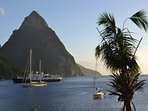 The Petit Piton from Soufriere