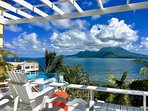 Ocean Song Villa with Nevis across the Narrows. Enjoy our spectacular view!