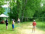 Badminton by the river