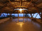 beautiful bamboo hall with great view