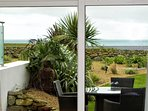 8 ft patio doors take advantage of the view