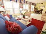 Living Room Islander Beach 4009 Fort Walton Beach Okaloosa Island Vacation Rentals