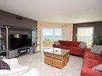 Take in beautiful views of the emerald Gulf while enjoying the large 65' HD TV!