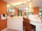 En suite master bath vanity/pampering area.