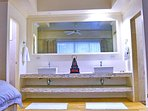 Master Bedroom One Double Sinks and Separate Shower and Throne Room