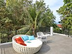 72 square meter roof terrace with sea views
